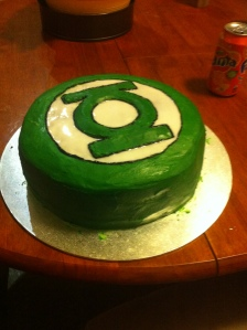 Husband's Green Lantern Cake