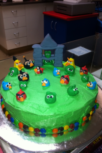 My Daughter's Angry Birds birthday cake
